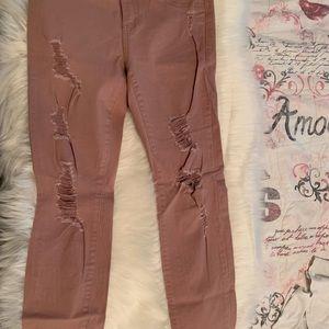 Rose pink pants